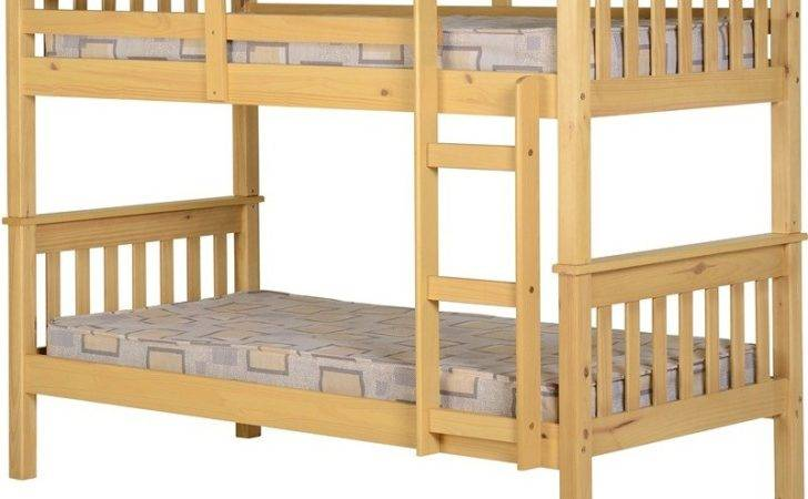 Neptune Solid Wood Bunk Bed Natural Splits Into Single