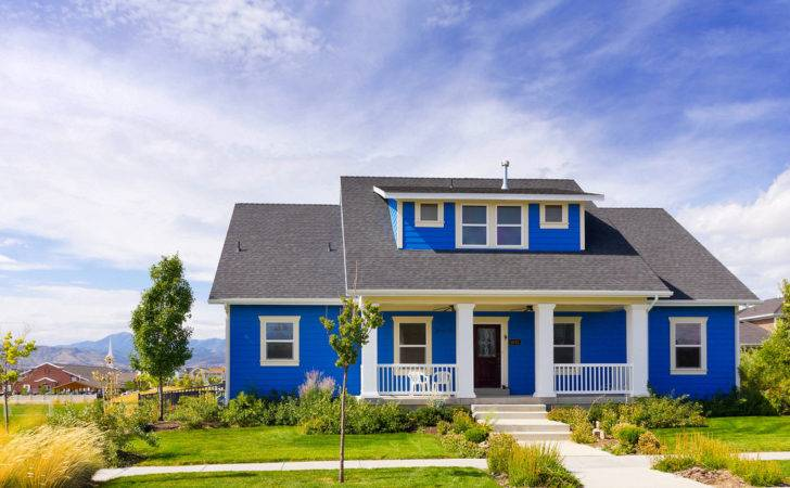New Blue Bungalow House Modern Home