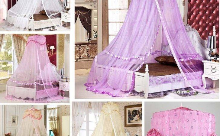 New Luxury Romantic Bed Dome Netting Canopy Princess Round