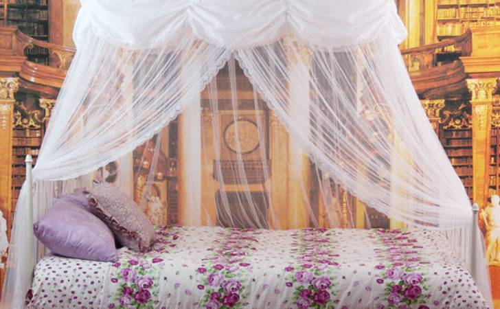 New Mosquito Bed Canopy White Princess Bedding Fits