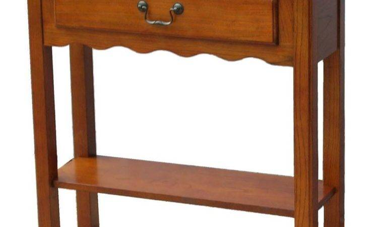 New Small Hall Foyer Console Table Stand Drawer Medium