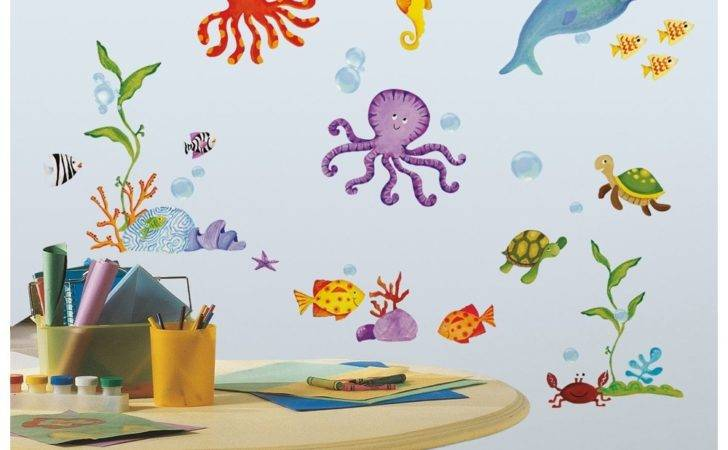 New Tropical Fish Wall Decals Octopus Stickers Kids