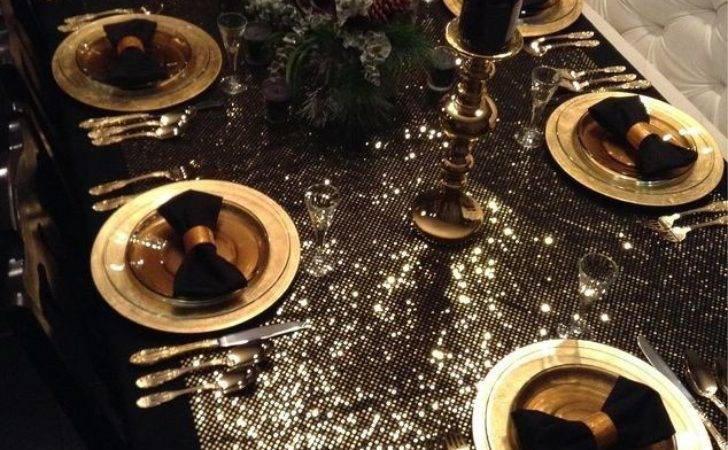 New Years Black Gold Tablescape Hometalk