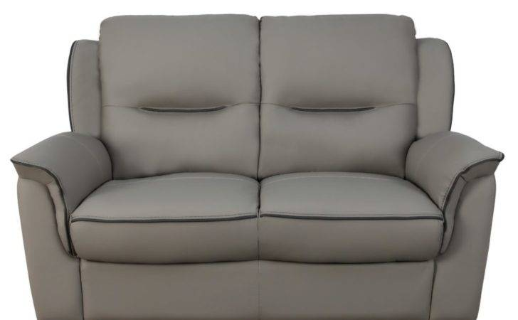 New York Leather Seater Sofa Grey Furniture