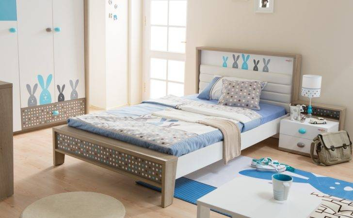 Newjoy Blue Bunny Small Double Children Bed Frame