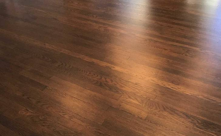 Newly Refinished Red Oak Hardwood Floors