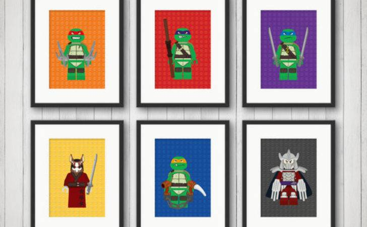 Ninja Turtle Decor Comic Book Boy Room