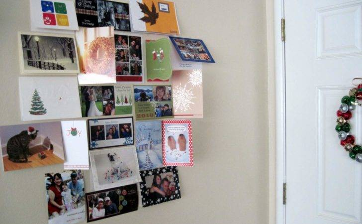 Nonsense Christmas Card Display Almost Never Clever
