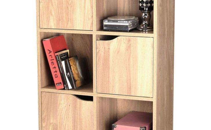 Oak Effect Wooden Storage Unit Display Shelving Bookcase