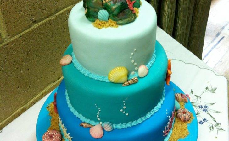 Ocean Wedding Cake Great British Bake Off