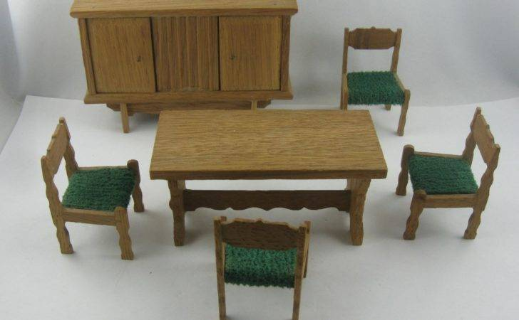 Off Dollhouse Furniture Dining Room Rustic Style