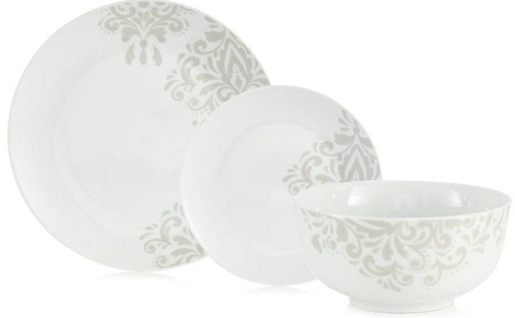 Off Sabichi Piece Porcelain Damask Dinner Set