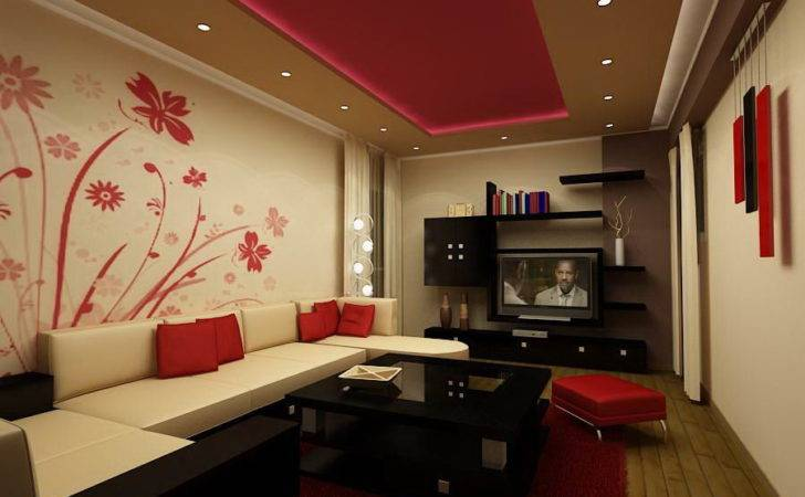 Offwhite Red Living Room Furniture Designs