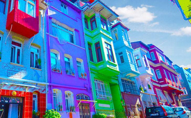 Old Colorful Houses Istanbul Kyrenian Redbubble