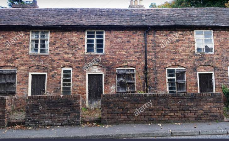 Old Historic Workers Terraced Cottages Coalbrookdale