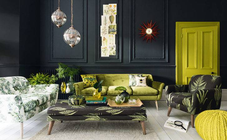 Olive Green Grey Living Room