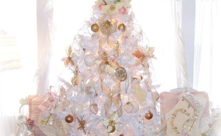 Olivia Romantic Home Shabby Chic White Christmas Tree