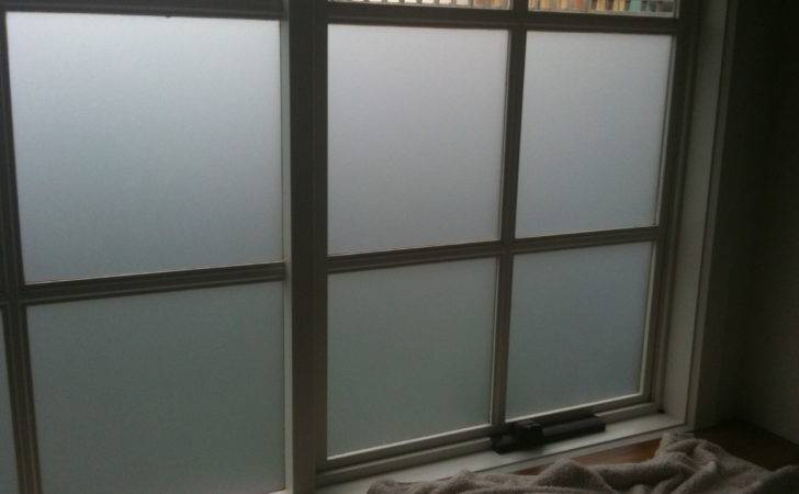Opaque Glass Window Wooden Frame Painted