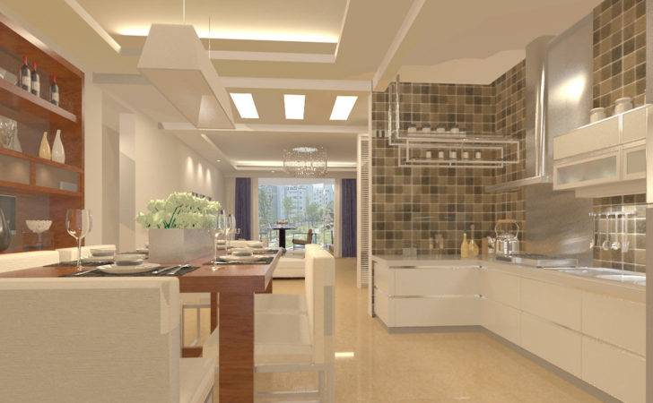 Open Plan Kitchen Living Room Small Space Modern House