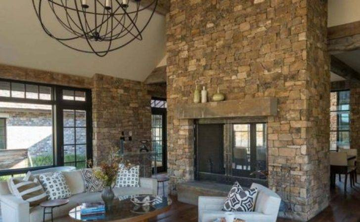 Open Sided Fireplace Home Design Ideas Remodel