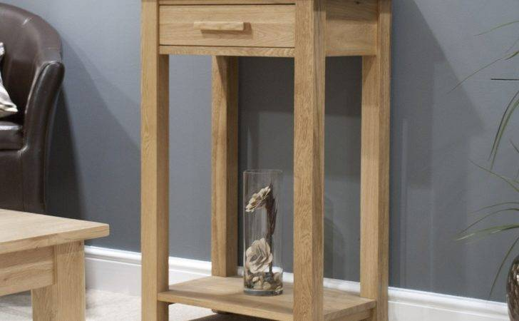 Opus Solid Oak Small Hall Console Table Furniture