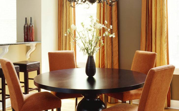 Orange Modern Contemporary Dining Rooms