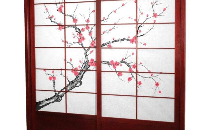 Oriental Furniture Cherry Blossom Shoji Sliding Door Kit
