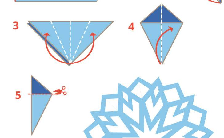 Origami Snowflake Instructions Printable Papercraft
