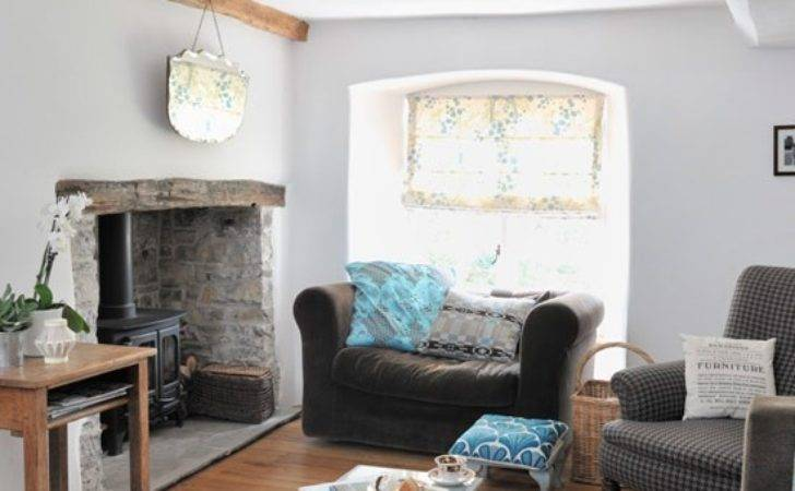 Original Living Room Features Modern Country Cottage
