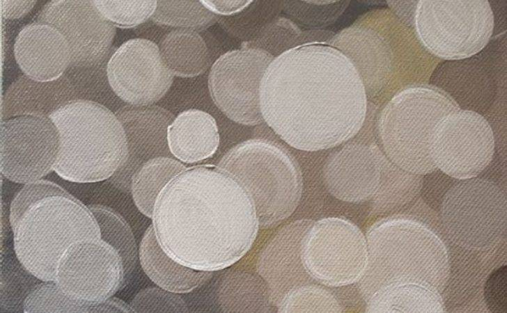 Original Oil Painting Circles Wall Art Wrapped