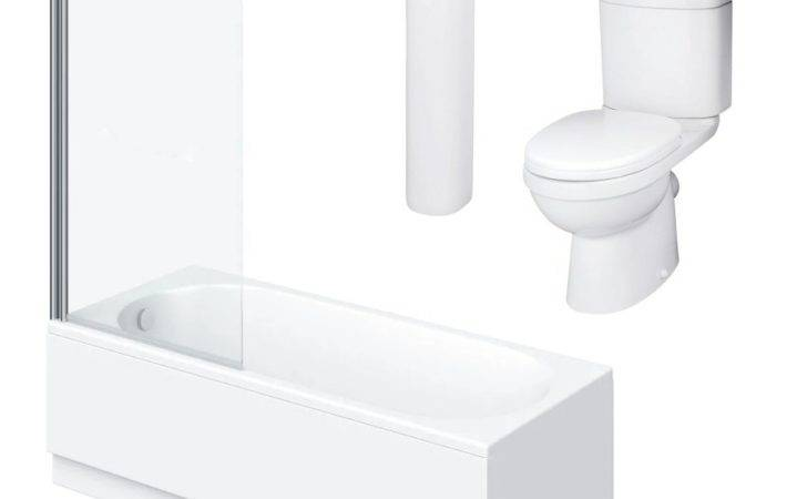 Orta Single Ended Shower Bath Suite Cheap
