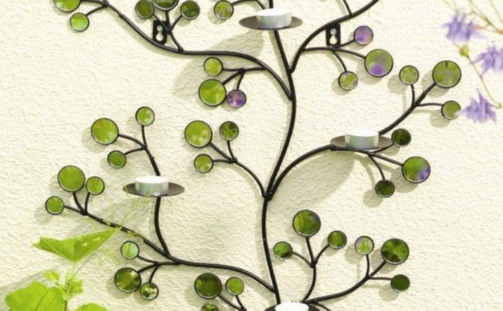 Outdoor Metal Zen Mirror Garden Wall Art