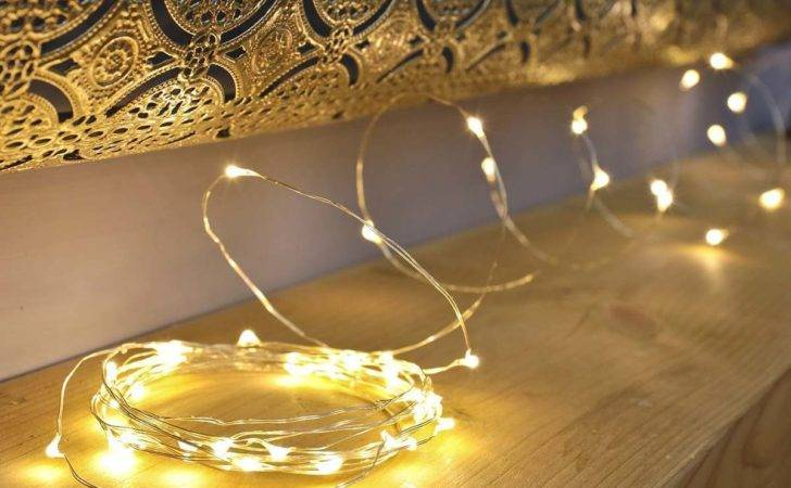 Outdoor Silver Micro Naked Wire Battery Fairy Lights
