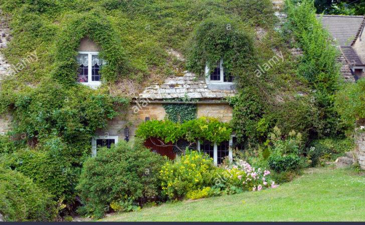 Overgrown Cottage Snowshill Gloucestershire England