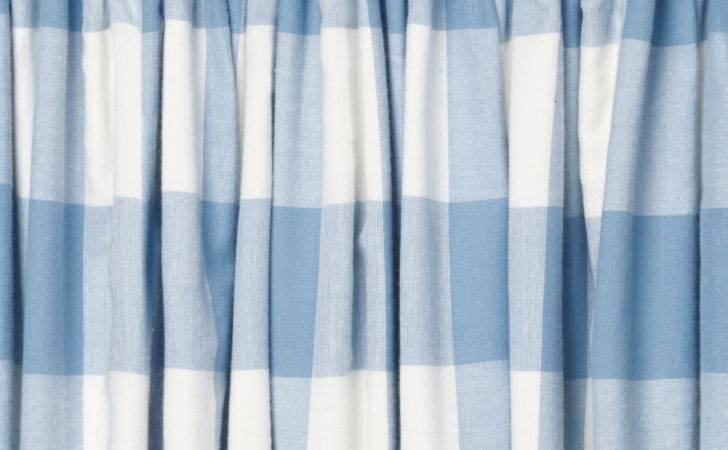 Oxford Check Blue Ready Made Curtains Laura Ashley