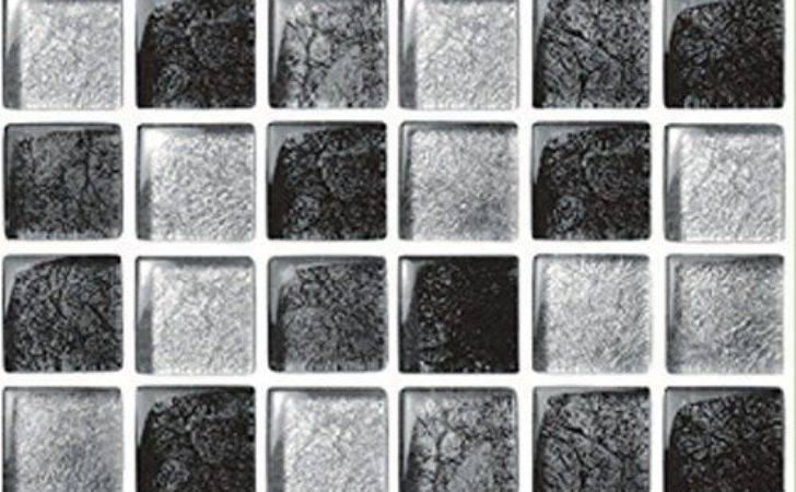 Pack Silver Black Grey Mosaic Tile Stickers
