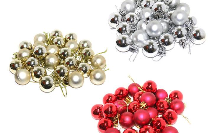 Pack Small Metallic Matte Christmas Tree Baubles