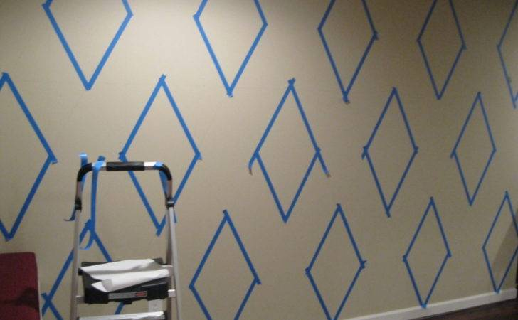 Paint Diamond Pattern Your Wall Maison