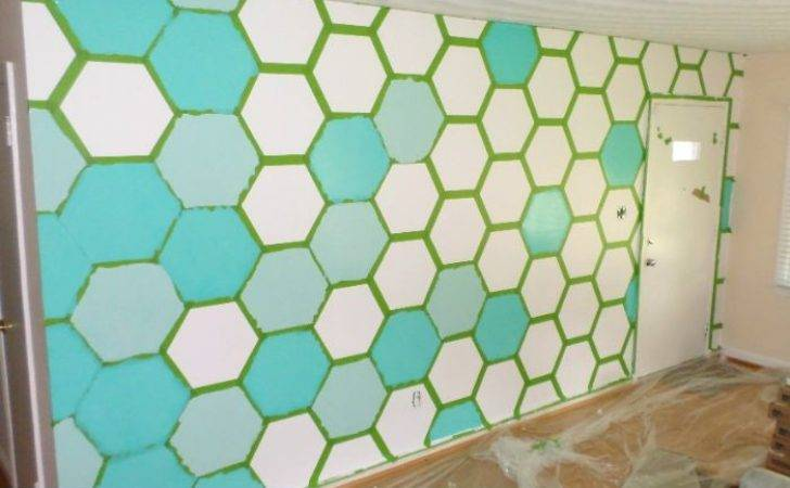 Paint Hexagon Patterned Wall Designer Home