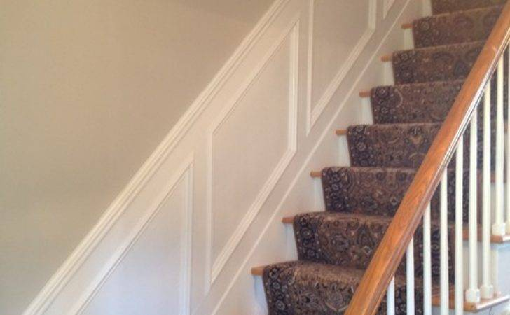 Paint Job Plus Had Moulding Added Entryway Stairs