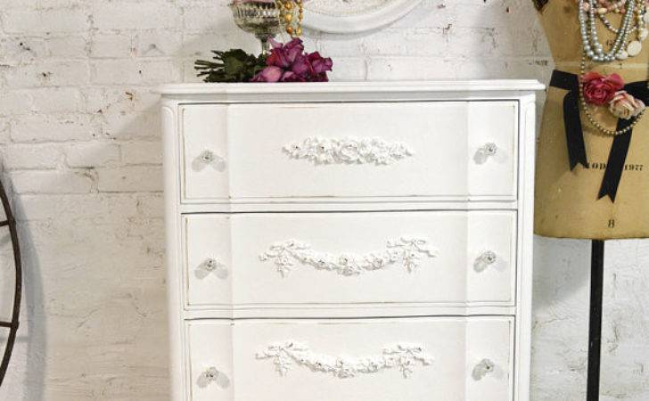 Painted Cottage Chic Shabby French Chest Dresser