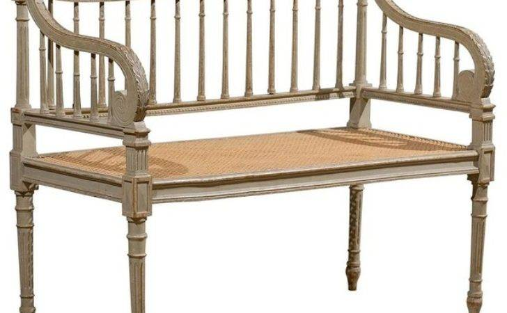 Painted French Louis Xvi Style Bench Modern Indoor