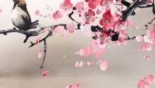 Painting Bird Cherry Blossoms Reminiscent