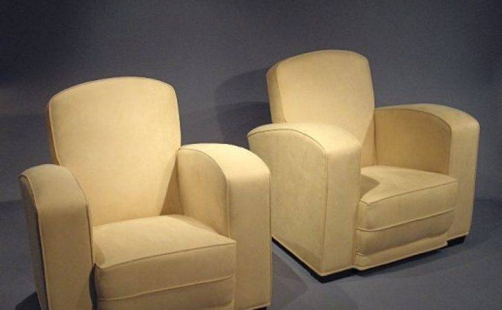 Pair Art Deco Armchairs Loveday Antiques