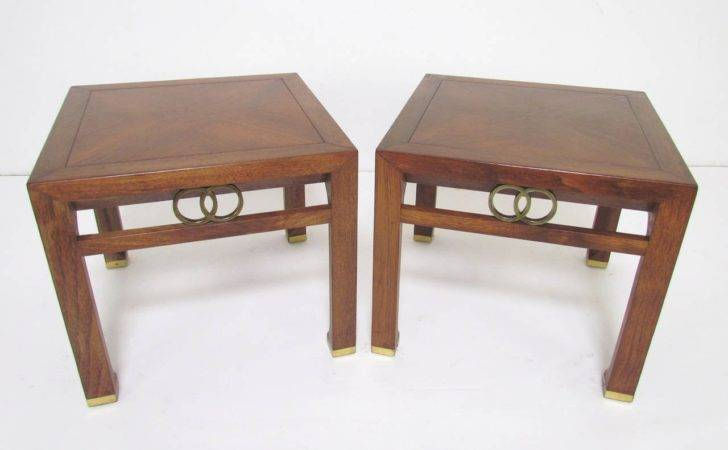 Pair End Tables Michael Taylor Baker Furniture