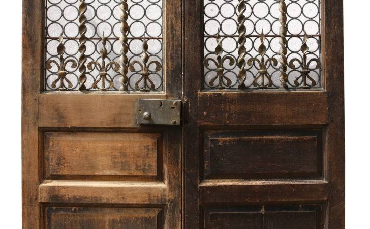 Pair English Exterior Double Doors Architectural