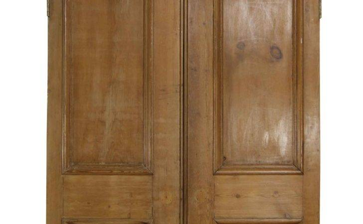 Pair Victorian Arched Pine Doors Architectural