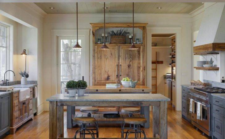 Pale Blue Country Kitchen Building