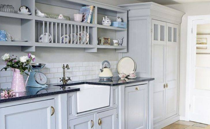 Pale Blue Country Kitchen Decorating Housetohome