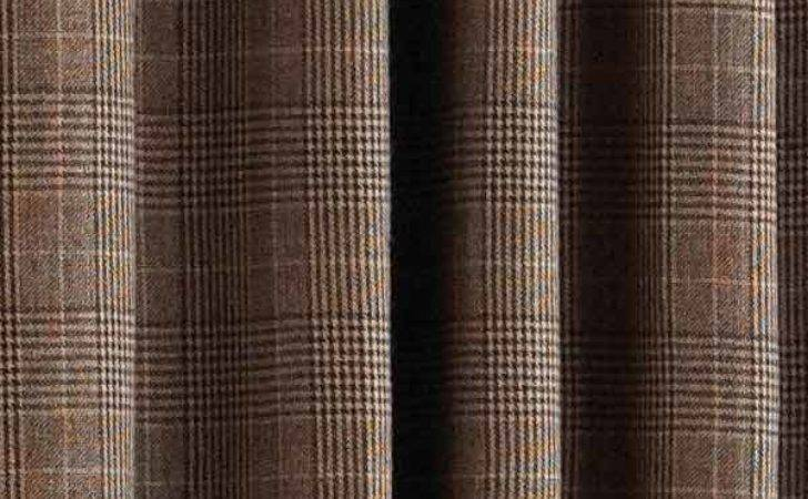 Paoletti Courcheval Tartan Check Lined Eyelet Curtains